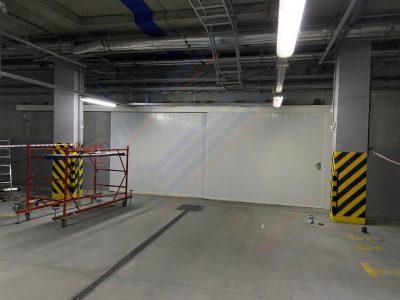 Откатные Противопожарные ворота FireTechnics-P2 EI60 глухие